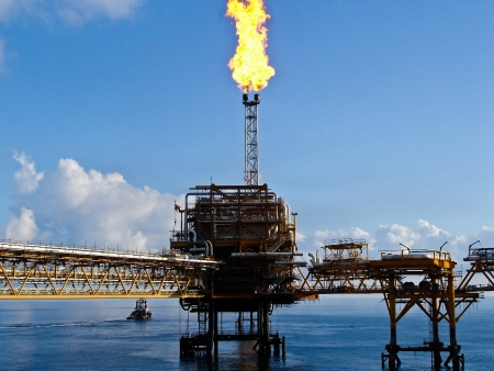 Rigs offshore Oil refinery  photo