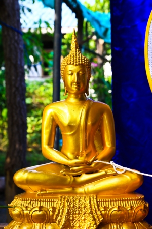 3rd ancient: Statue buddha in the temple,thailand