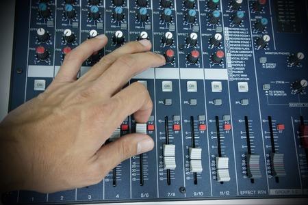 music mixer control  Stock Photo