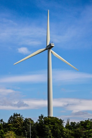 powerful and ecological energy concept  Industrial wind installation