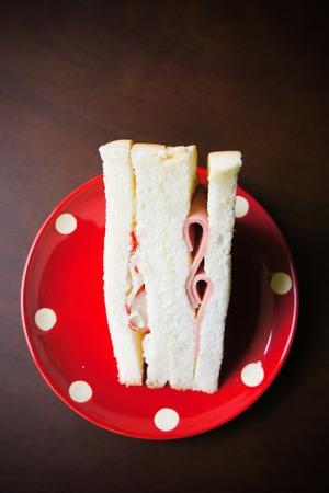 Tuna and ham sandwich