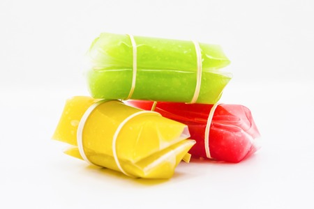 Colorful Aalaw candy, Thai dessert, Stock Photo