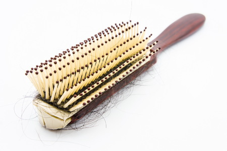Comb with hair fell out