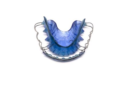 Retainer blue on a white background, isolated 写真素材