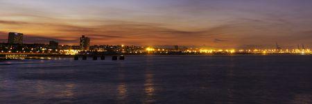 sky line: Port Elizabeth Sky line early evening just after sunset