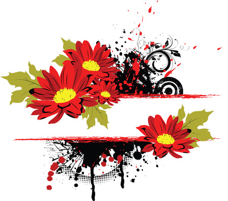 Floral camomile abstraction. Vector