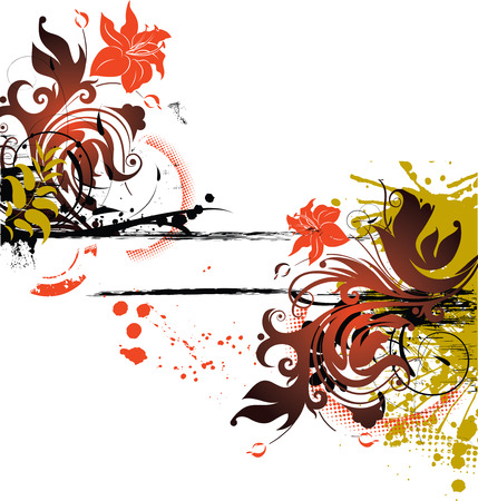 Floral abstract banner. Vector illustration. Suits well for design.