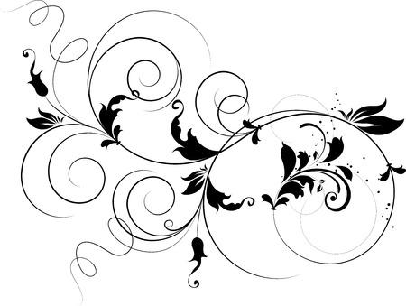 Floral design element. Suits well for design.