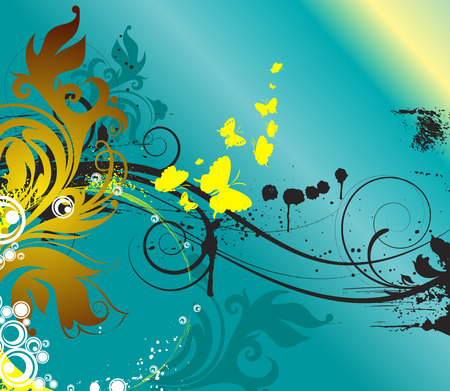 Abstract flroal background for using in design Illustration