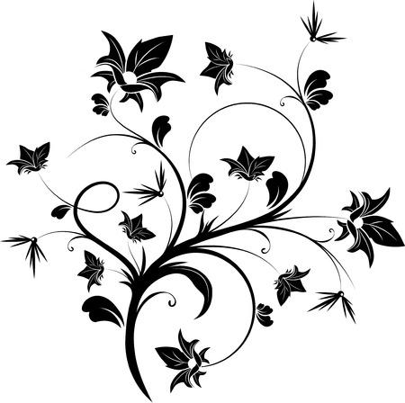Floral design element. Vector illustration. Suits well for design.