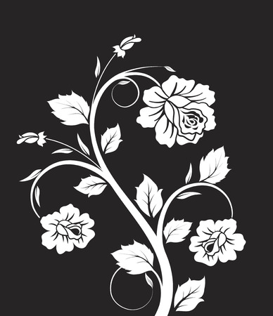 Floral abstraction. Vector illustration. Suits well for design.
