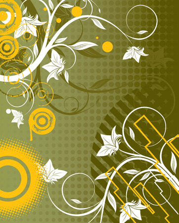 repeater: Floral abstraction. Vector illustration. Suits well for design.