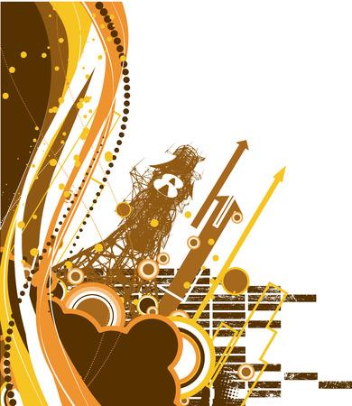 Grunge tachno background. Vector