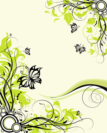 Floral abstraction. Vector illustration. Abiti e per il design.