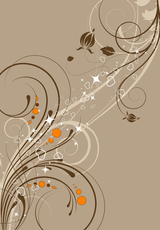Abstract floral background for design Illustration