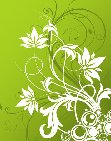 vector artwork: Floral abstract background