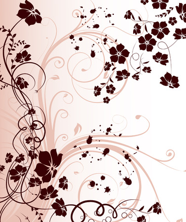 vector flowers: Floral abstract background