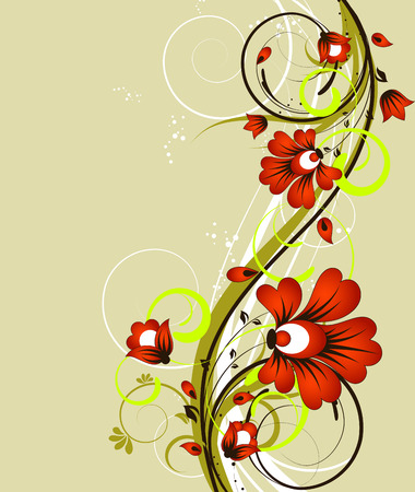 floral vector: Floral abstract background