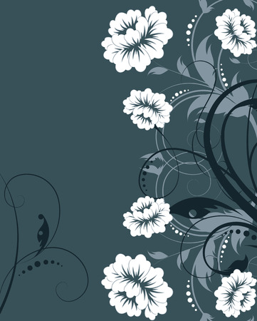 Abstract floral background. Suits well for design Illustration