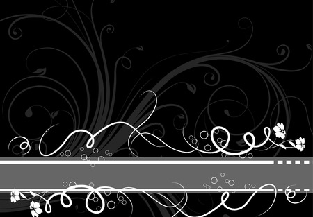 Abstract floral banner. Adatta anche per il design. Vettoriali