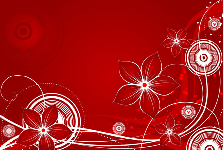 Abstract floral background. Suits well for design. Vector