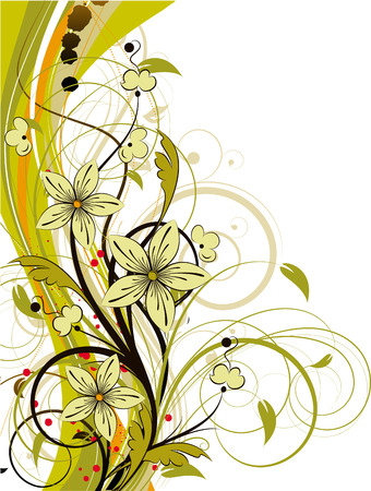 Abstract floral background. Adatta anche per il design. Vettoriali