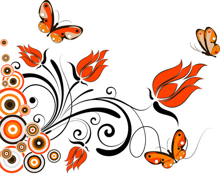 Abstract floral background. Suits well for design.