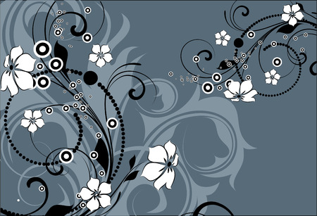 astratto floral background per il design.  Vettoriali