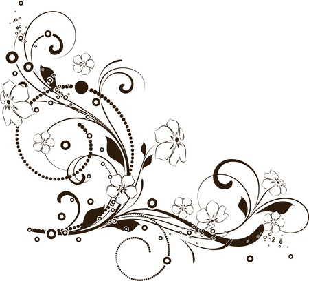 Abstract floral background per il design.