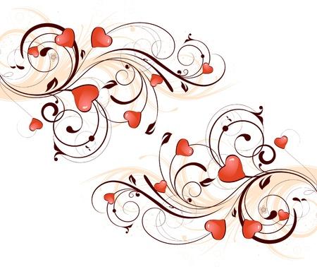 Saint-Valentin jour arrière-plan Vecteurs