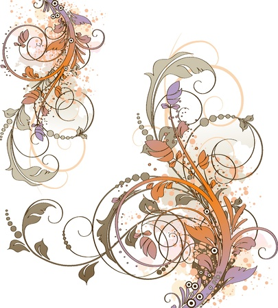 Abstract floral illustration for design. Vector