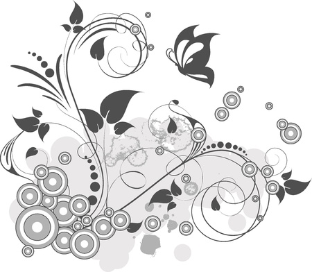 Abstract floral background for design Stock Vector - 10863632