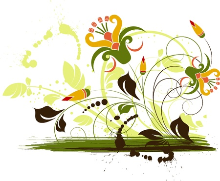 Abstract flroal background. Suits well for design.