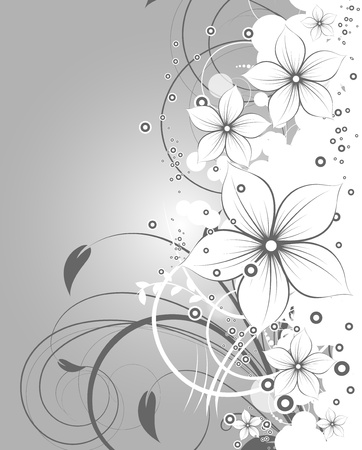 floral scroll: Abstract floral background for design.