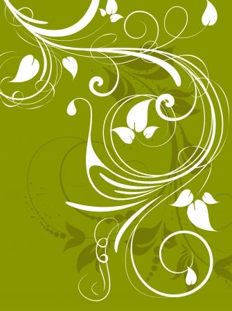 Floral background for design Vector