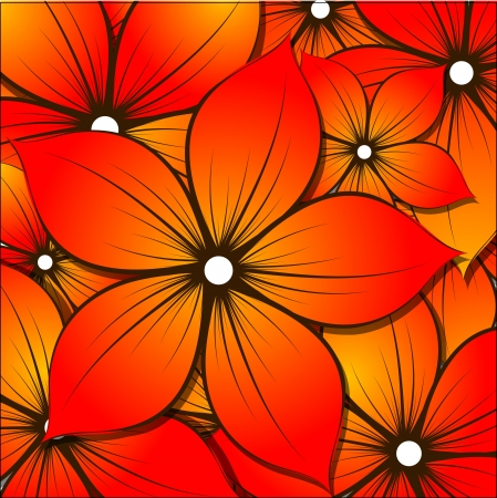 Floral background for design Illustration