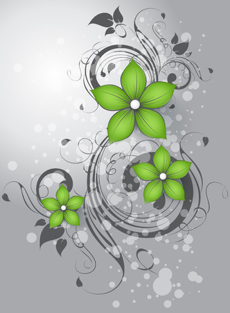 Abstract floral background for design Çizim