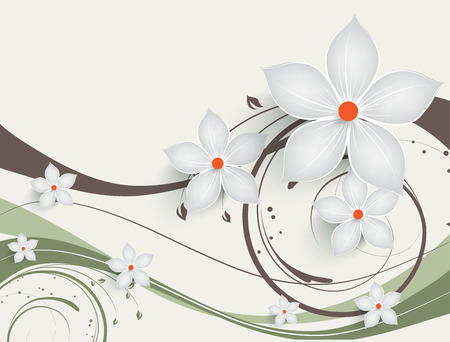 Abstract floral background for design Illustration