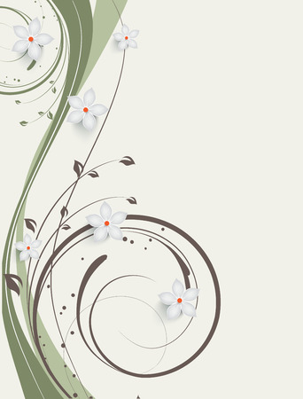 Abstract flroal background for design