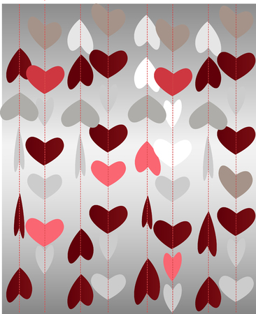 Abstract paper hear for St.Valentine Day