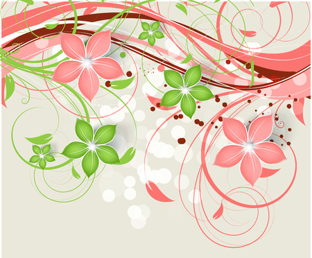 abstract floral background for design purposes