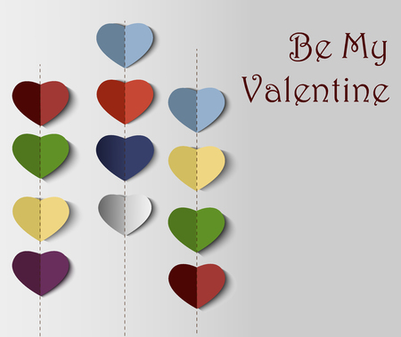 Be my Valentine card template.