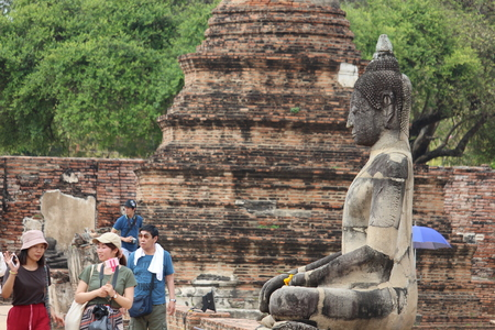 Beautiful Ayutthaya temples in Thailand. Editorial