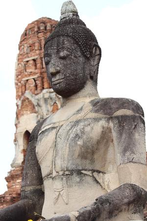 Beautiful Ayutthaya temples in Thailand. Banco de Imagens
