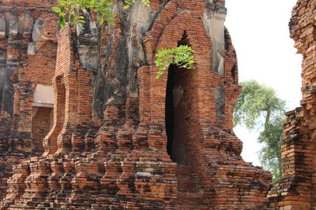 Beautiful Ayutthaya temples in Thailand. Stock Photo