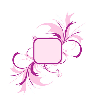 Decorative frame, pink, isolated on the white Stock Vector - 4297973