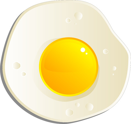 Fried egg, isolated on white, eps8 format Vector