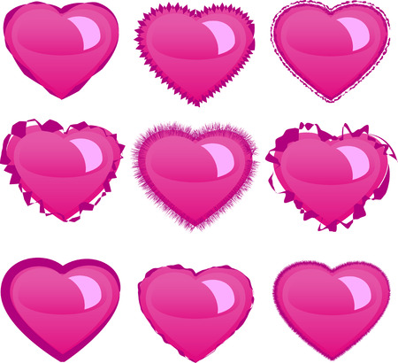Hearts set Stock Vector - 4315477