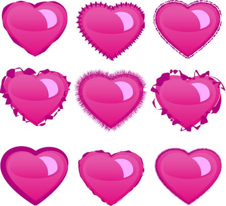 Hearts set Stock Vector - 4315477