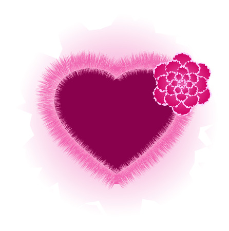 Heart with flower, pink, isolated, 8 format Stock Vector - 4315478